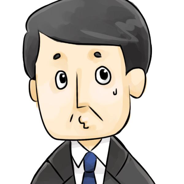 斎藤部長(逃げ腰)