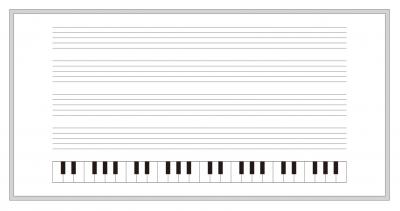 五線譜ホワイトボード